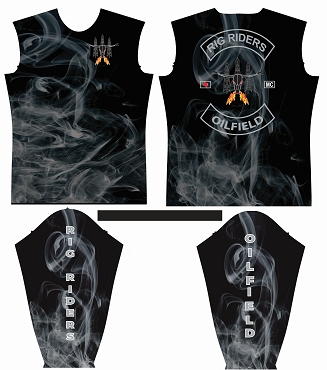 Long Sleeve, Jersey, Rig Riders, Smoke Style, Fully Sublimated