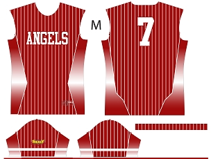 Angels, Jersey, Sublimated