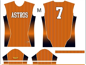 Astros, Jersey, Sublimated