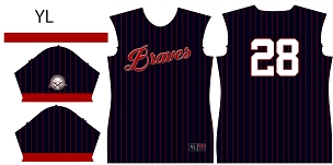 Braves, Full Sublimated Jersey