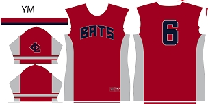 Bats, Jersey, Sublimated