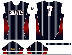 Braves, Jersey, Sublimated