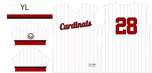 Cardinals, Full Sublimated Jersey
