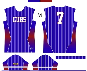 Cubs, Jersey, Sublimated