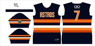 Astros Majors, Jersey, Sublimated