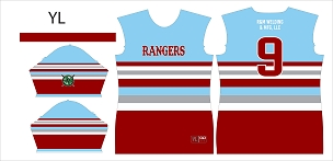 Rangers Majors, Jersey, Sublimated
