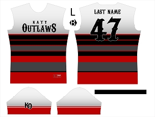Jersey, Replica, Outlaws Grey