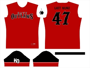 Jersey, Replica, Outlaws Red