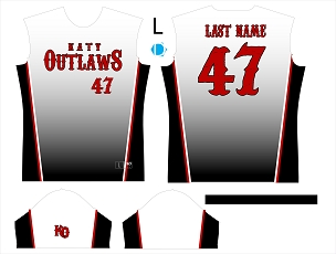 Jersey, Replica, Outlaws White