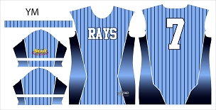 Rays, Jersey, Sublimated