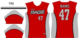 Jersey, Replica, Katy Rage Red