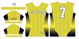 Yellow Jackets, Jersey, Sublimated