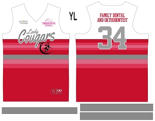 Lady Cougars, Jersey with Sleeves