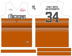 Lady Longhorns, Jersey with Sleeves