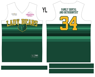 Lady Bears, Jersey with Sleeves