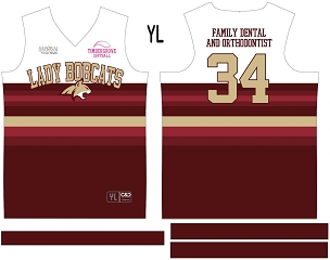 Lady Bobcats, Jersey with Sleeves